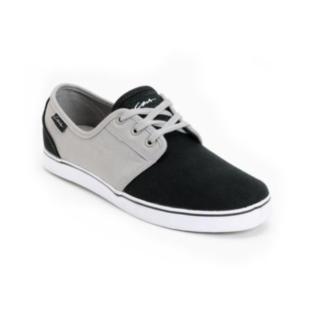Circa Crip Grey & Black Canvas Skate Shoe