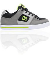 DC Pure TX Black, Battleship & Soft Lime Skate Shoe