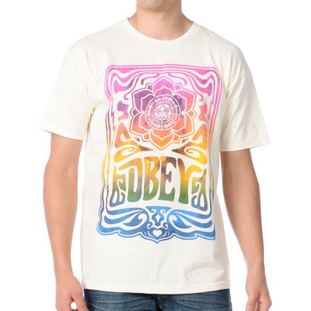 Obey In Concert Natural White Tee Shirt