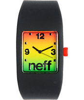 Neff Bandit Black Rasta Fade Wristband Analog Watch