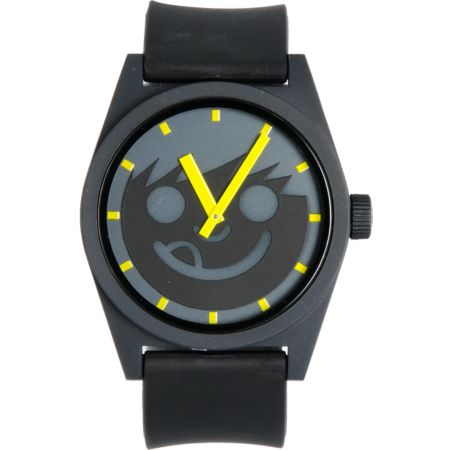 Neff Daily Smiley Black & Yellow Analog Watch