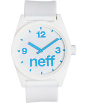 Neff Daily White & Cyan Corpo Analog Watch