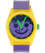 Neff Daily Multi Smiley Purple & Yellow Analog Watch