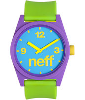 Neff Daily Pieced Corpo Purple, Green, & Blue Analog Watch