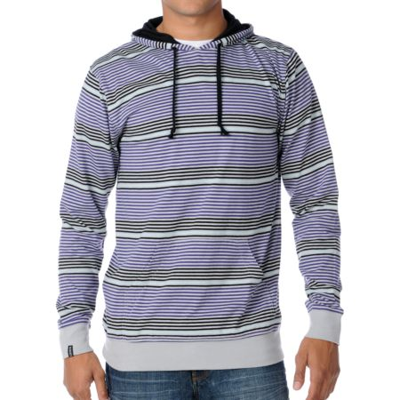 Empyre Species Grey & Purple Pullover Hooded Shirt