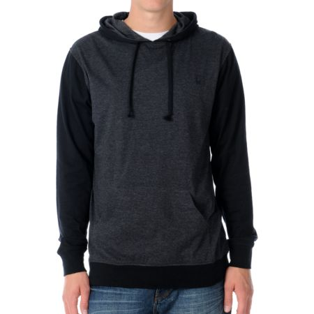 Dravus Moody Black & Charcoal Hooded Shirt