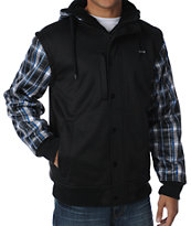 Aperture Octane Black & Plaid Tech Fleece Jacket
