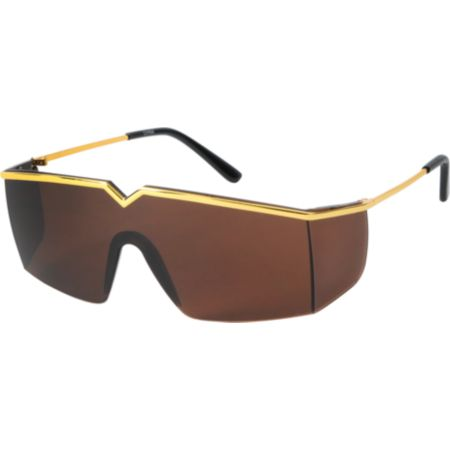 Jack Martin Eyes So Glassy Black & Gold Sunglasses