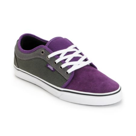 Vans Shoes Chukka Low Purple & Charcoal Houndstooth Skate Shoe