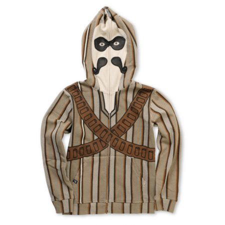 Volcom Boys Mystache Brown Full Zip Face Mask Hoodie