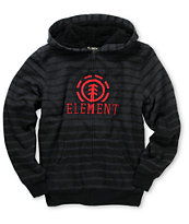 Element Boys Russel Black Stripe Sherpa Zip Hoodie