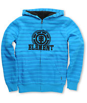 Element Boys Russel Blue Stripe Sherpa Zip Hoodie