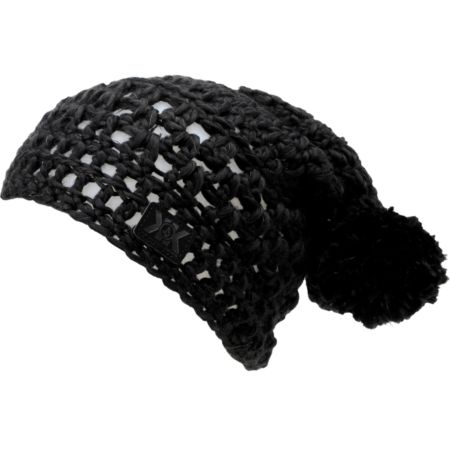 Volcom x Krochet Kids Girls Black Pom Beanie