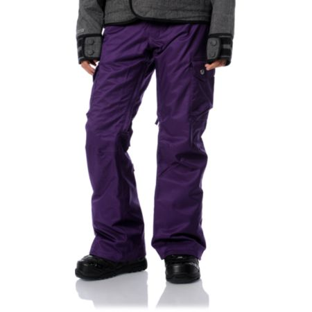 Burton Lucky 2012 Purple 10K Girls Snowboard Pants