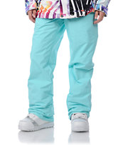 Volcom Girls Dame Heart Blue 10K 2011 Snowboard Pants
