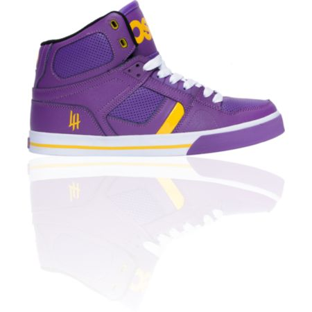 Osiris NYC 83 VLC Purple, Yellow & White Shoe