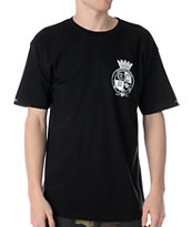 Crooks and Castles Crown Belt Black Tee Shirt