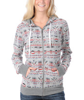 Element  Women's Grafton Charcoal Reversible Zip Hoodie