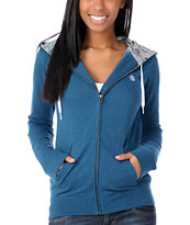 Element Girls Glover Teal Zip Up Hoodie