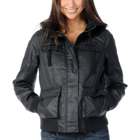 Dravus Fremont Girls Black Wax Canvas Jacket
