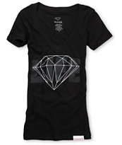 Diamond Supply Girls Diamond Life Black Tee Shirt