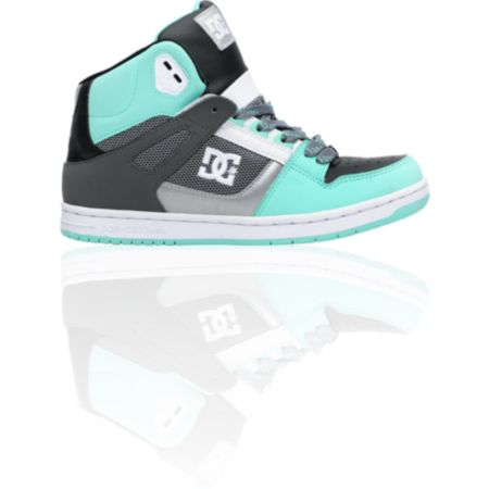 DC Rebound Hi Black & Cockatoo Green Shoe