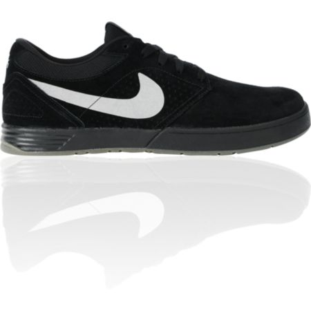 Nike SB P-Rod 5 Low Lunarlon Black, Silver & White Skate Shoe