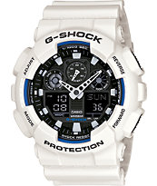 G-Shock GA100B-7A White & Black Guys Digital Watch