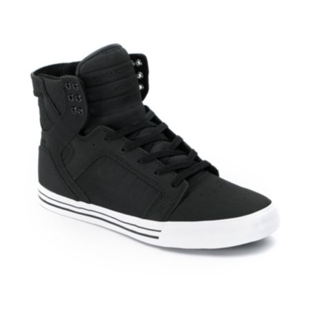 Supra Skytop Black Express Tuf Canvas Skate Shoe