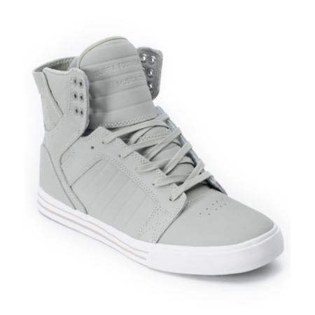 Supra Skytop Grey Express TUF Canvas Skate Shoe