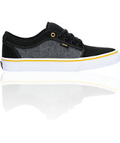 Vans Chukka Low Black, Grey, & Gold Skate Shoe