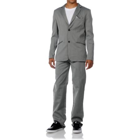 Volcom Dapper Stone Charcoal Suit
