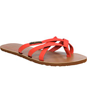 Volcom Girls New School Red Creedler Sandals