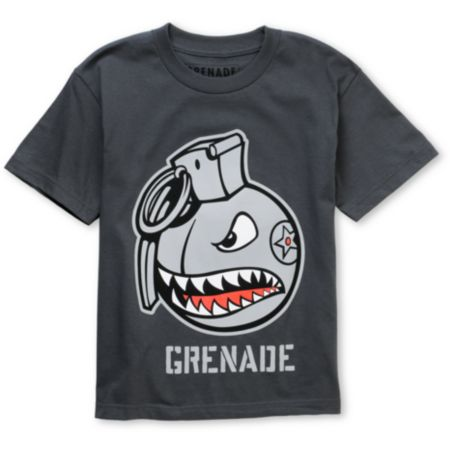Grenade Boys Recruiter Grey Tee Shirt