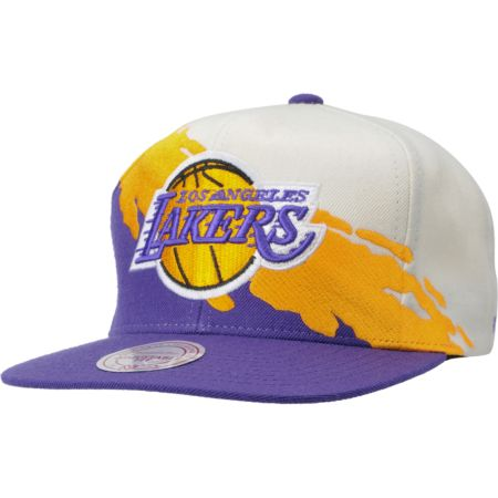 NBA Mitchell and Ness Los Angeles Lakers Paintbrush Snapback Hat