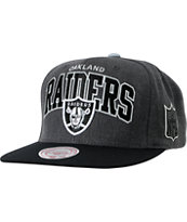 NFL Mitchell and Ness Oakland Raiders Arch Grey Snapback Hat
