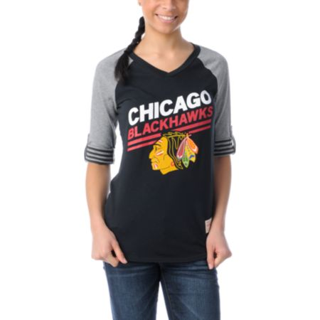 NHL Mitchell and Ness Chicago Blackhawks Comeback Girls Tee Shirt