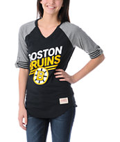 NHL Mitchell and Ness Boston Bruins Comeback Girls Tee Shirt