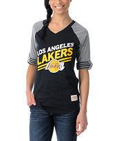 NBA Mitchell and Ness LA Lakers Comeback Girls Tee Shirt