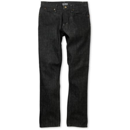 Free World Drifter Black Raw Wash Slim Jeans