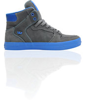 Supra Vaider Charcoal Grey Suede & Royal Blue