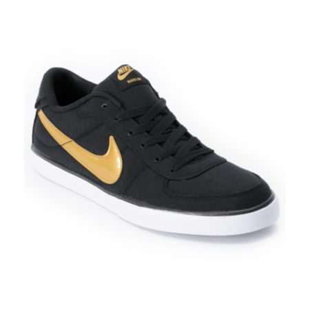 Nike 6.0 Mavrk Black & Gold Shoe