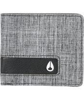 Nixon Black Wash Canvas Showoff Wallet