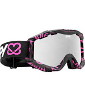 Spy x Keep A Breast Zed Black and Silver Mirror 2012 Snowboard Goggles