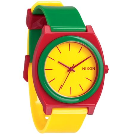 Nixon Time Teller P Rasta Analog Watch