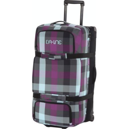Dakine 2012 Belle Plaid Large Black Split Luggage Roller Bag