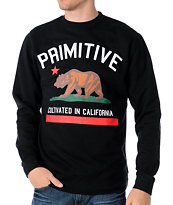 Primitive Cultivated Black Fleece Crew Neck Sweatshirt