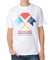 Diamond Supply Infantry White Tee Shirt