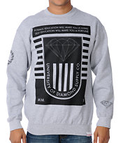Diamond Supply University 2 Heather Grey Crewneck Sweatshirt