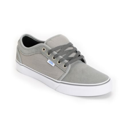 Vans Chukka Low Medium Grey & Ripstop Skate Shoe